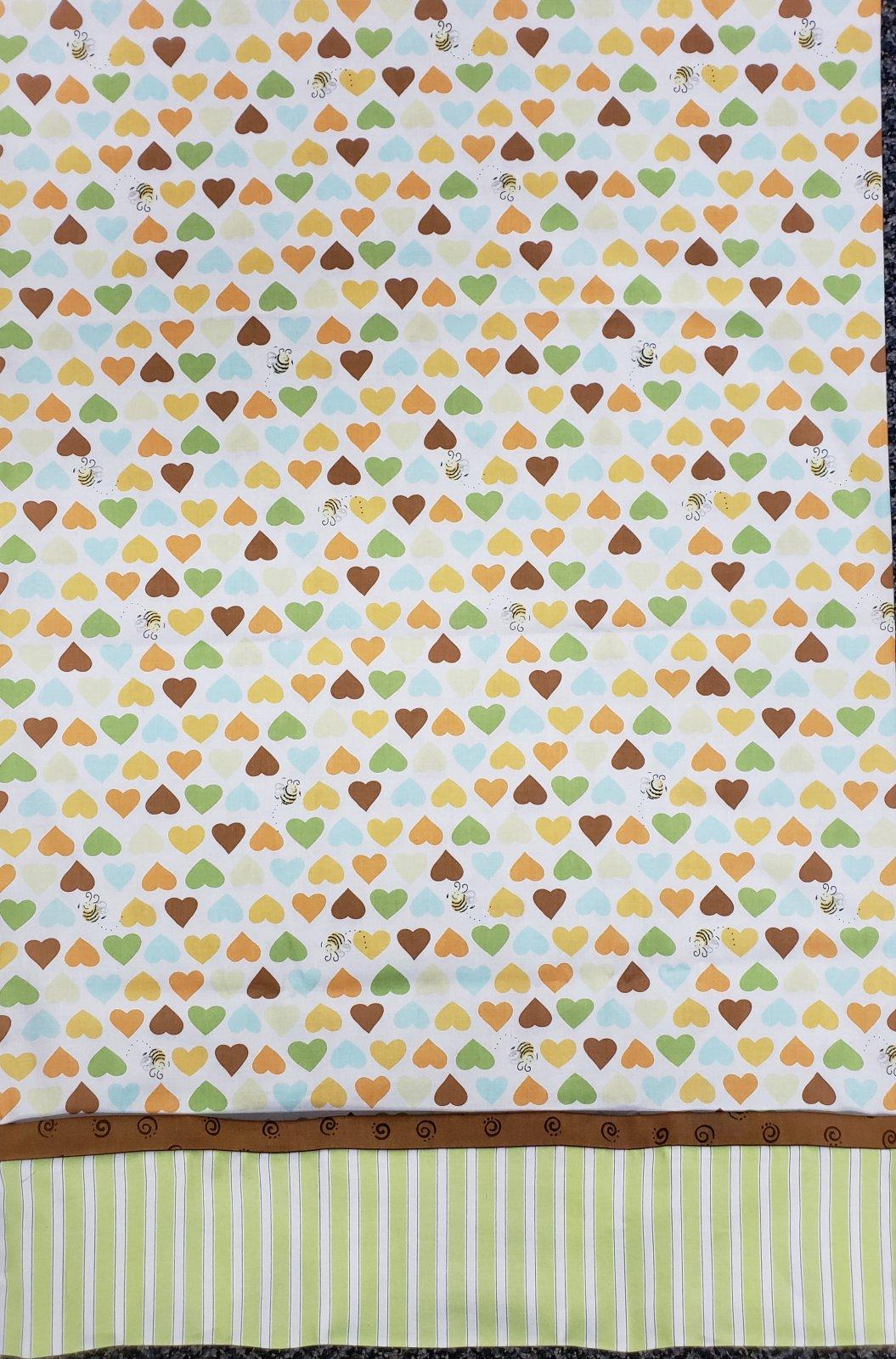 Hearts and Bees Pillowcase
