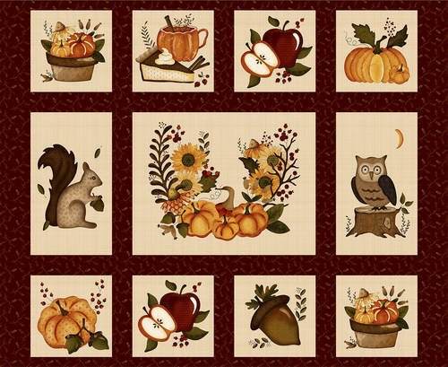 Hello Fall Panel Red