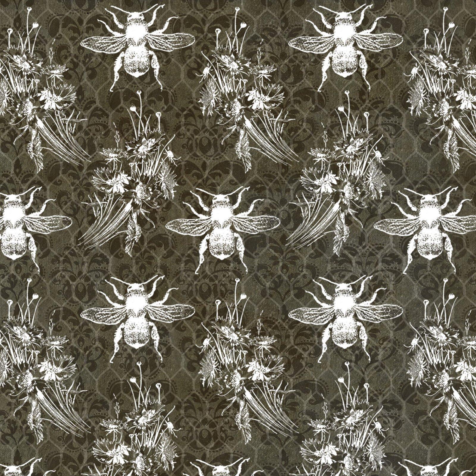 Bee Sweet Bees/Honeycomb Blk