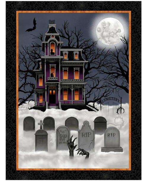 Spooky Night House Panel
