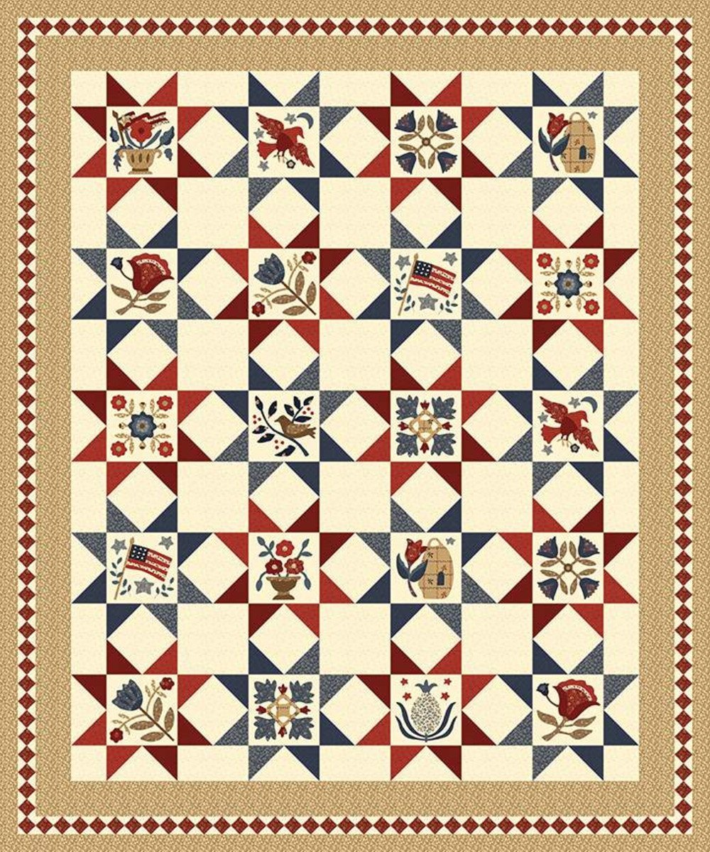 Buttermilk Basin Americana Album Quilt Pattern