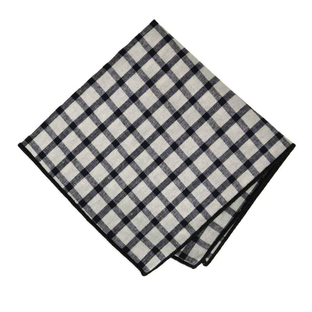 Black/White Windowpane Cloth Napkin