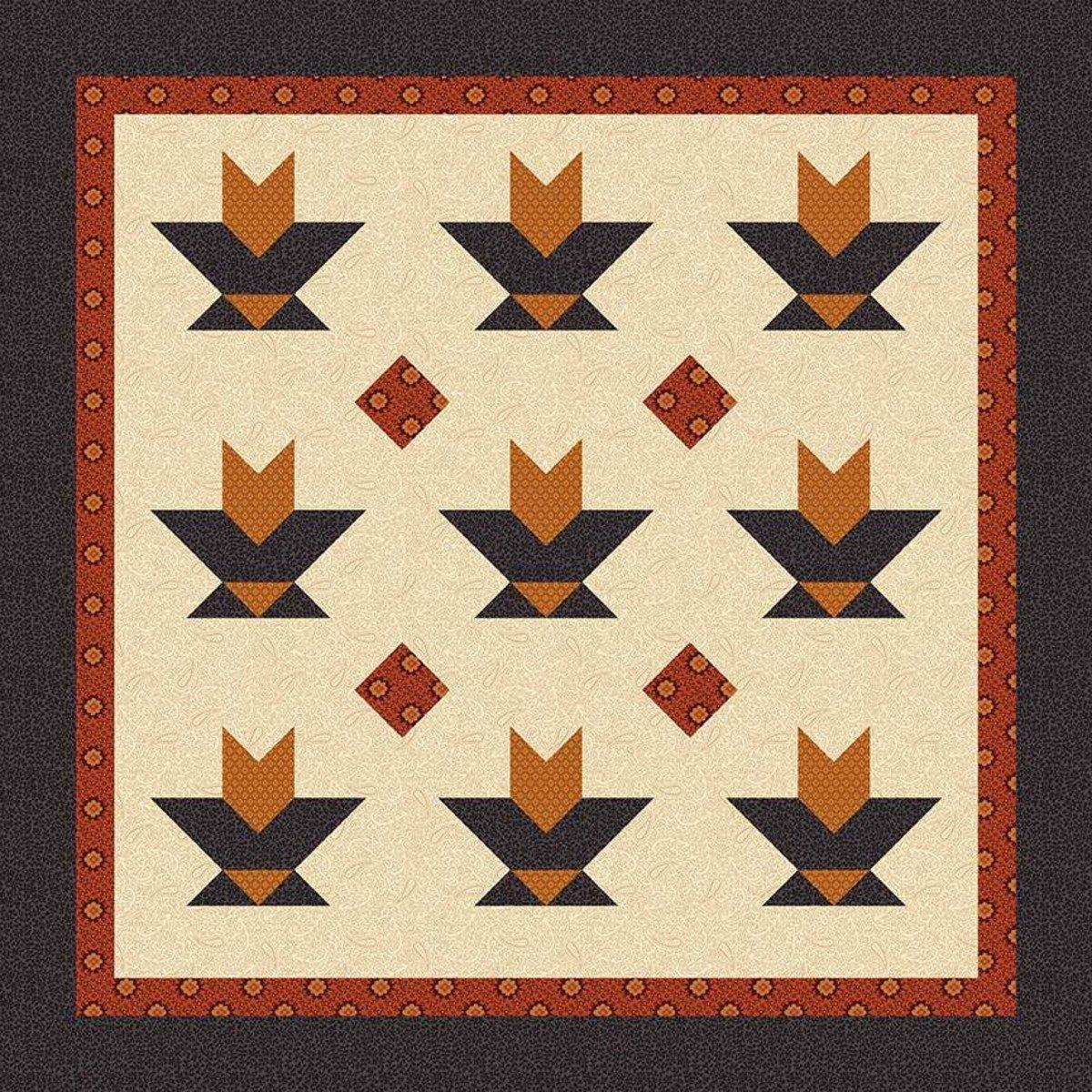 Cactus Basket Quilt Pattern