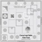Creative Grids 8 Curvy Log Cabin Trim Ruler