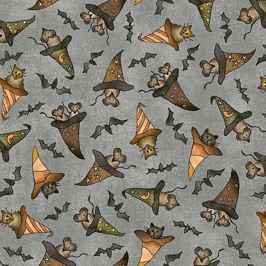 Bats Cats Rats with Hats - Gray