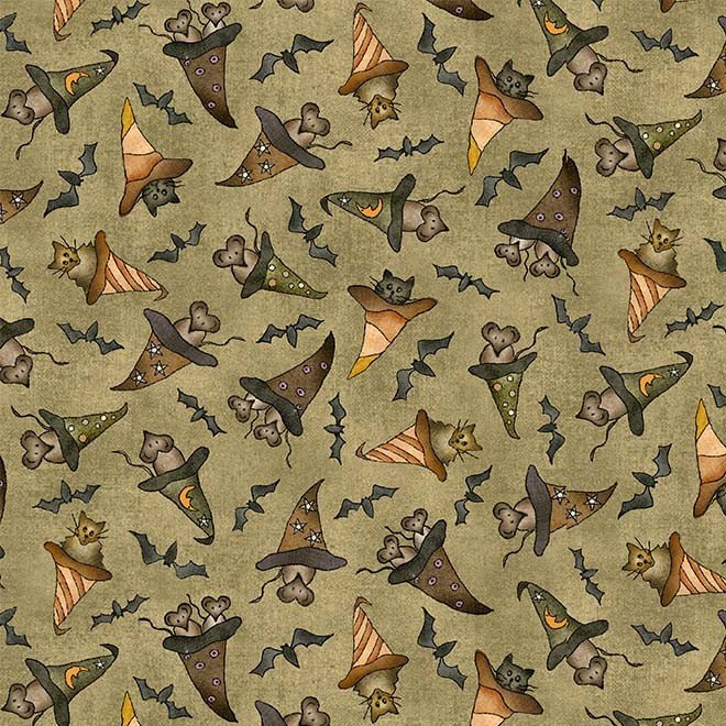 Bats Cats Rats with Hats - Green