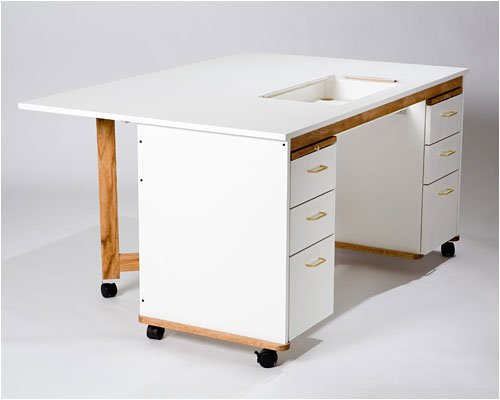 Tracey's Tables Double Pedestal cabinet/table includes 3 drawers on both sides and 2 bread boards