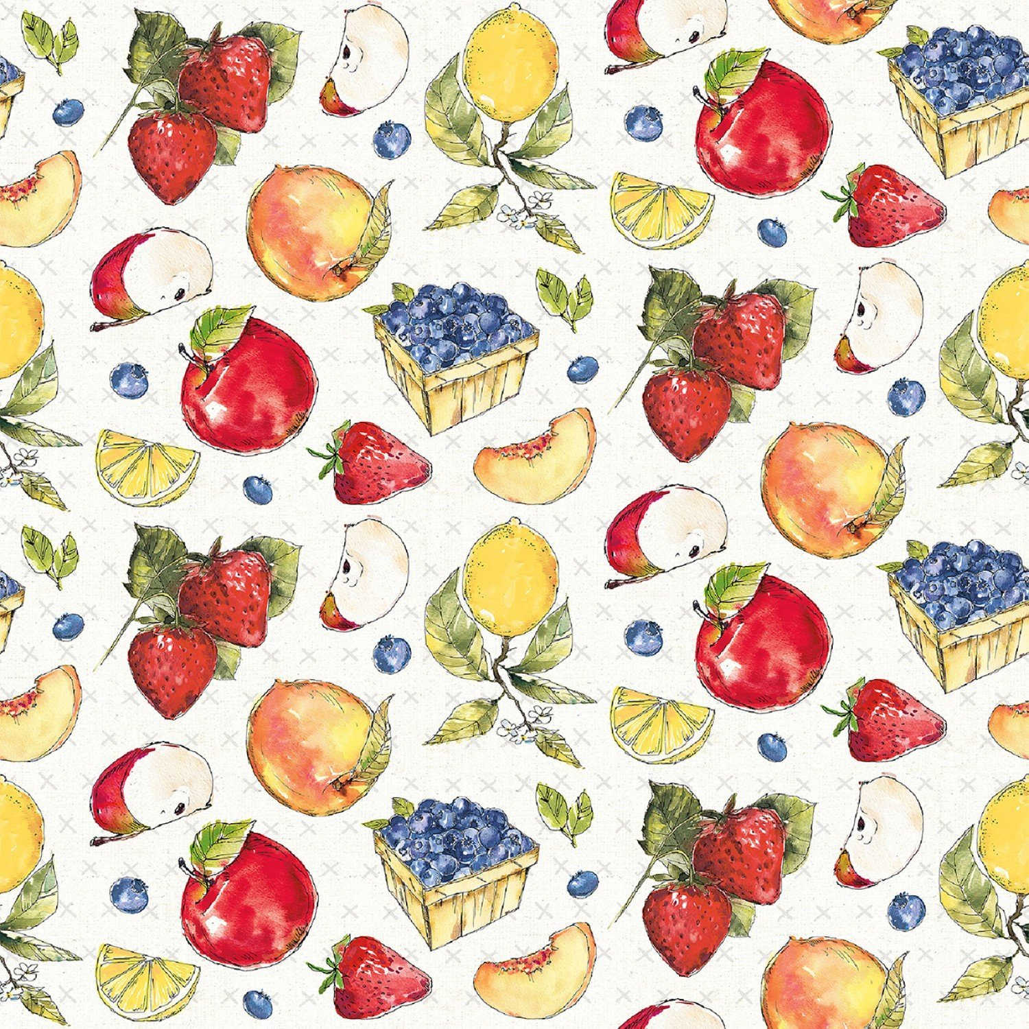 Fruit Stand by Anne Tavoletti - Multi Tossed Fruit