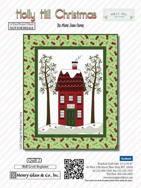 Holly Hill Christmas House Quilt
