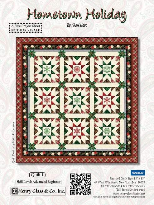 Hometown Holiday Quilt Kit