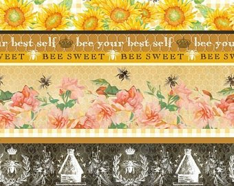 Bee Sweet Yellow Border Stripe