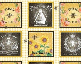 Bee Sweet Block Repeat Panel