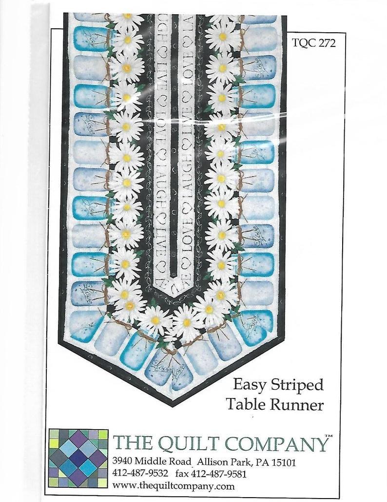 Easy Striped Table Runner Pattern