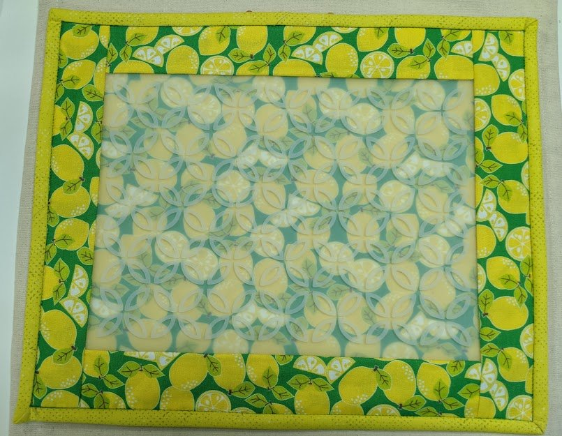 Hot Stuff Trivet Extra Large Kit: Wide Border Lemons