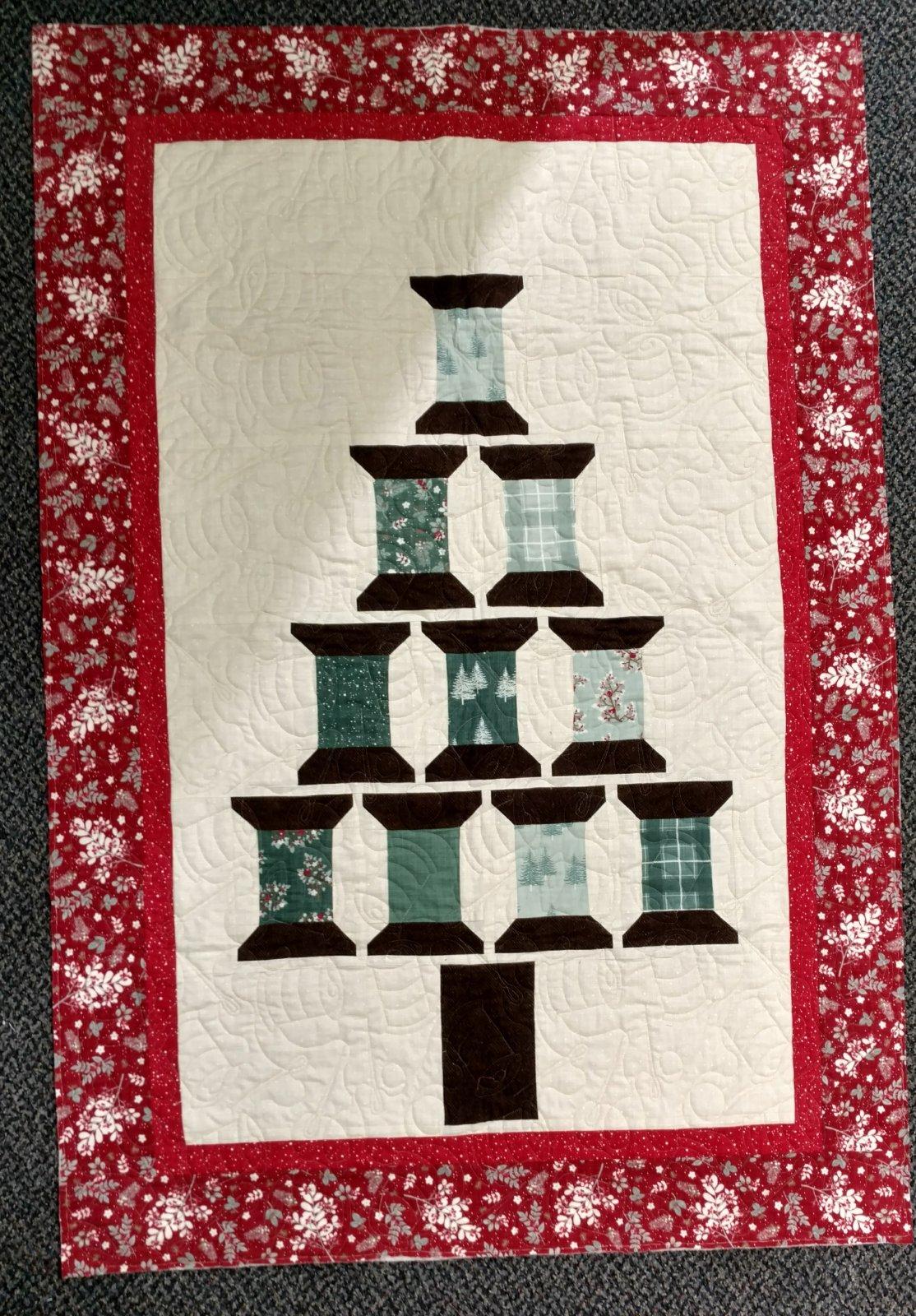 Holiday Spools Tree