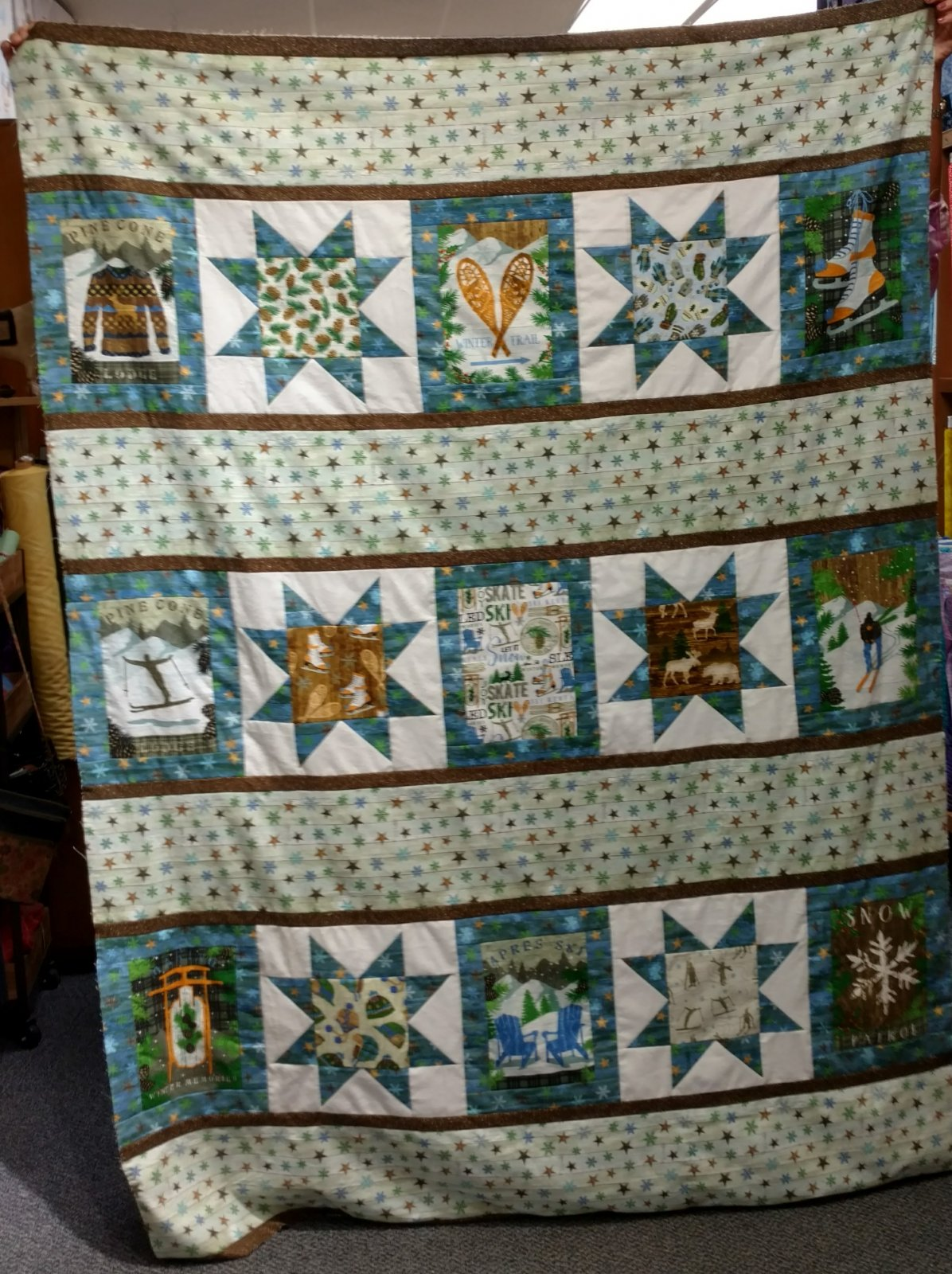 Pine Cone Lodge Flannel Quilt