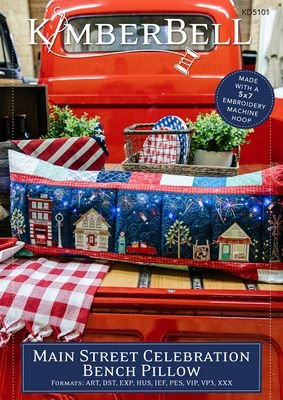 Embroidery Version Book and CD: Kimberbell Red, White & Bloom Bench Pillow