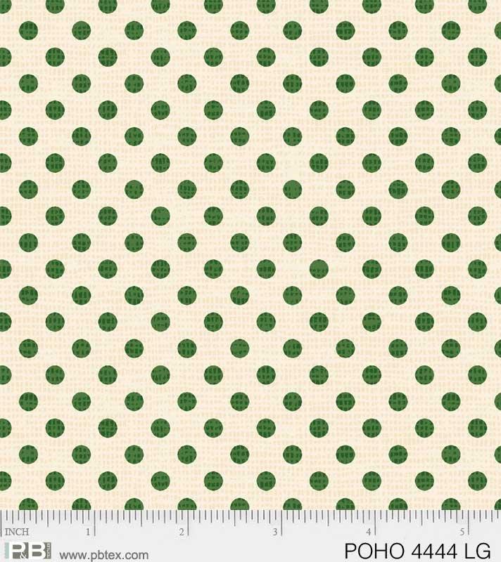 Postcard Holiday Green Dot on Cream