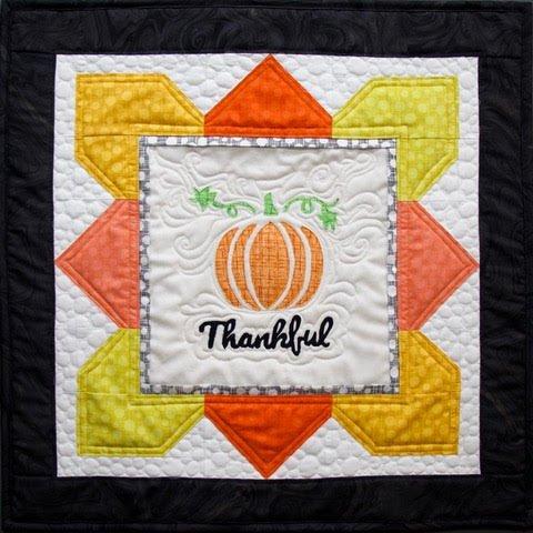 Thankful Pumpkin Mini Quilt Rob 2 pack