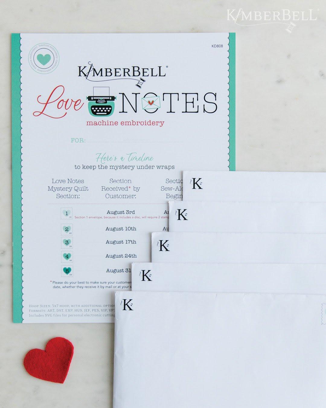 Kimberbell  Love Notes Sewing Version