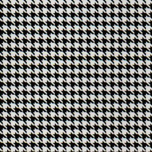 Fabric Finders Blk/Wht Houndstooth
