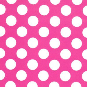 Fabric Finders 1/2 White Dots on Pink