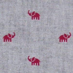 Fabric Finders Heather Gray with Red Elephant 2143