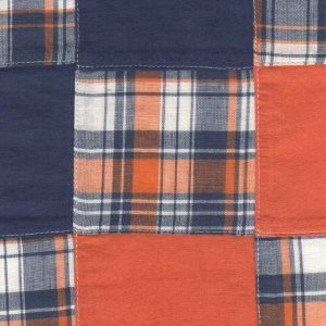 Fabric Finders Madras Orange/Blue