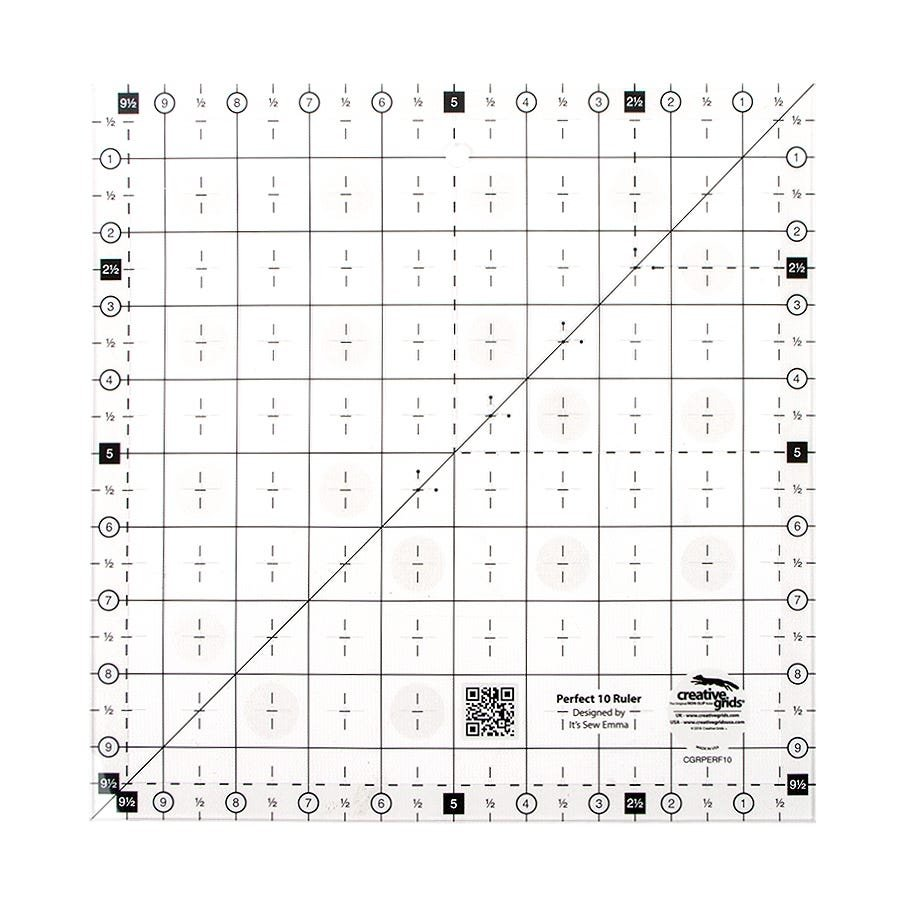 Creative Grid Non Slip Perfect 10 Ruler