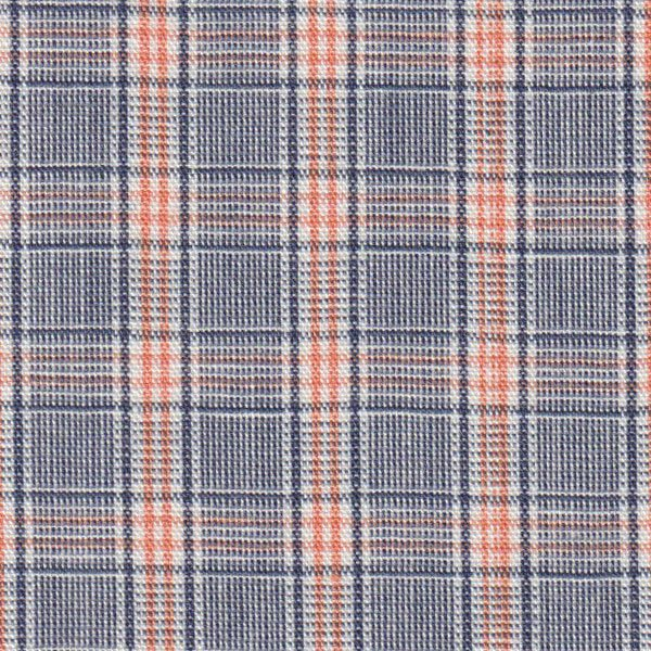 Plaid Orange and Navy Fabric Finders P54