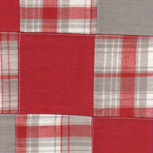 Fabric Finders Madras Red/Gray
