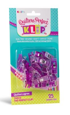 25 pc Quilter's Perfect ClipsPurple
