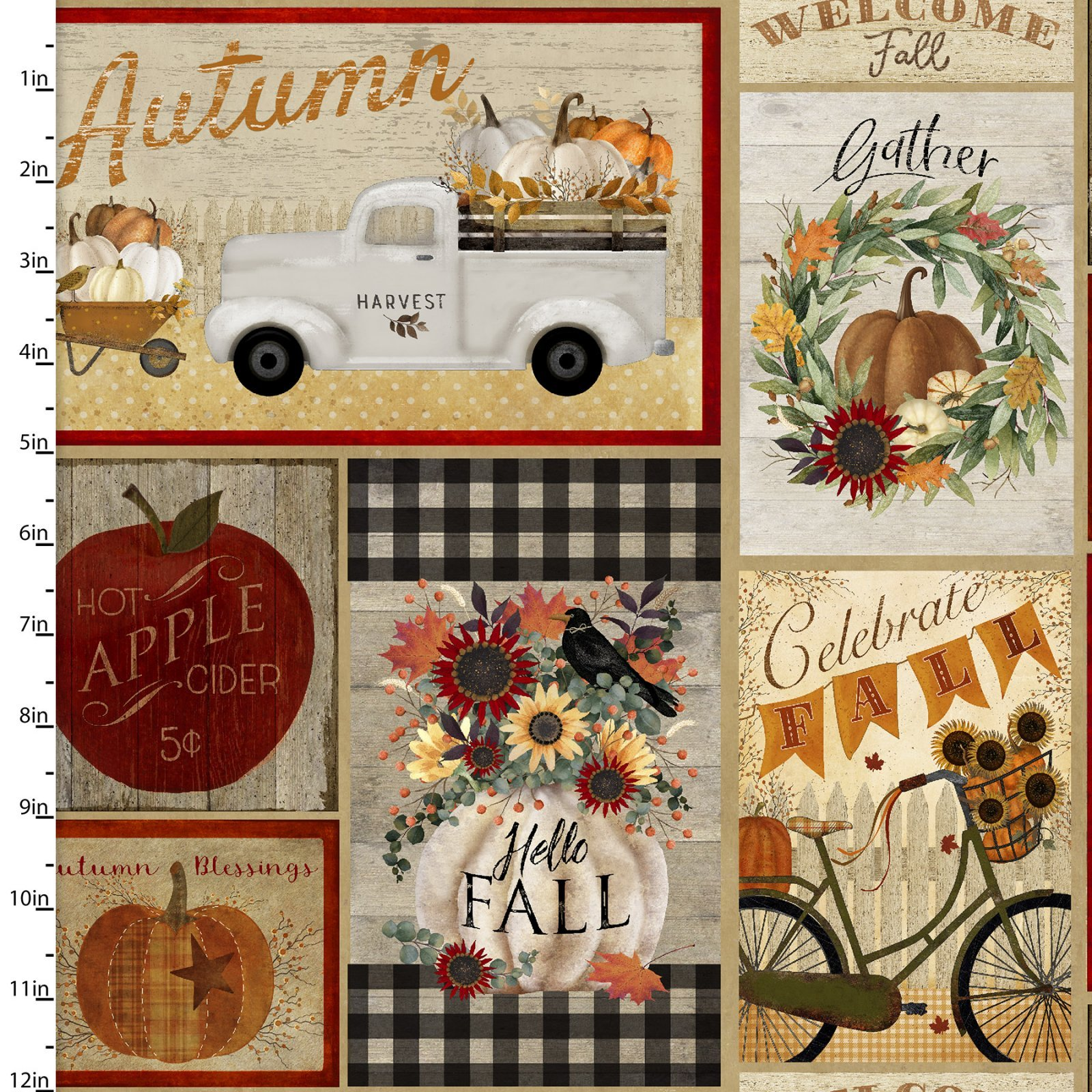 Happy Fall - Patchwork