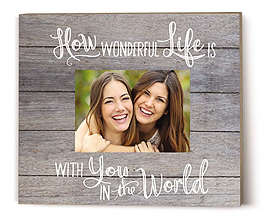 How Wonderful Life Gray Shiplap Picture Frame
