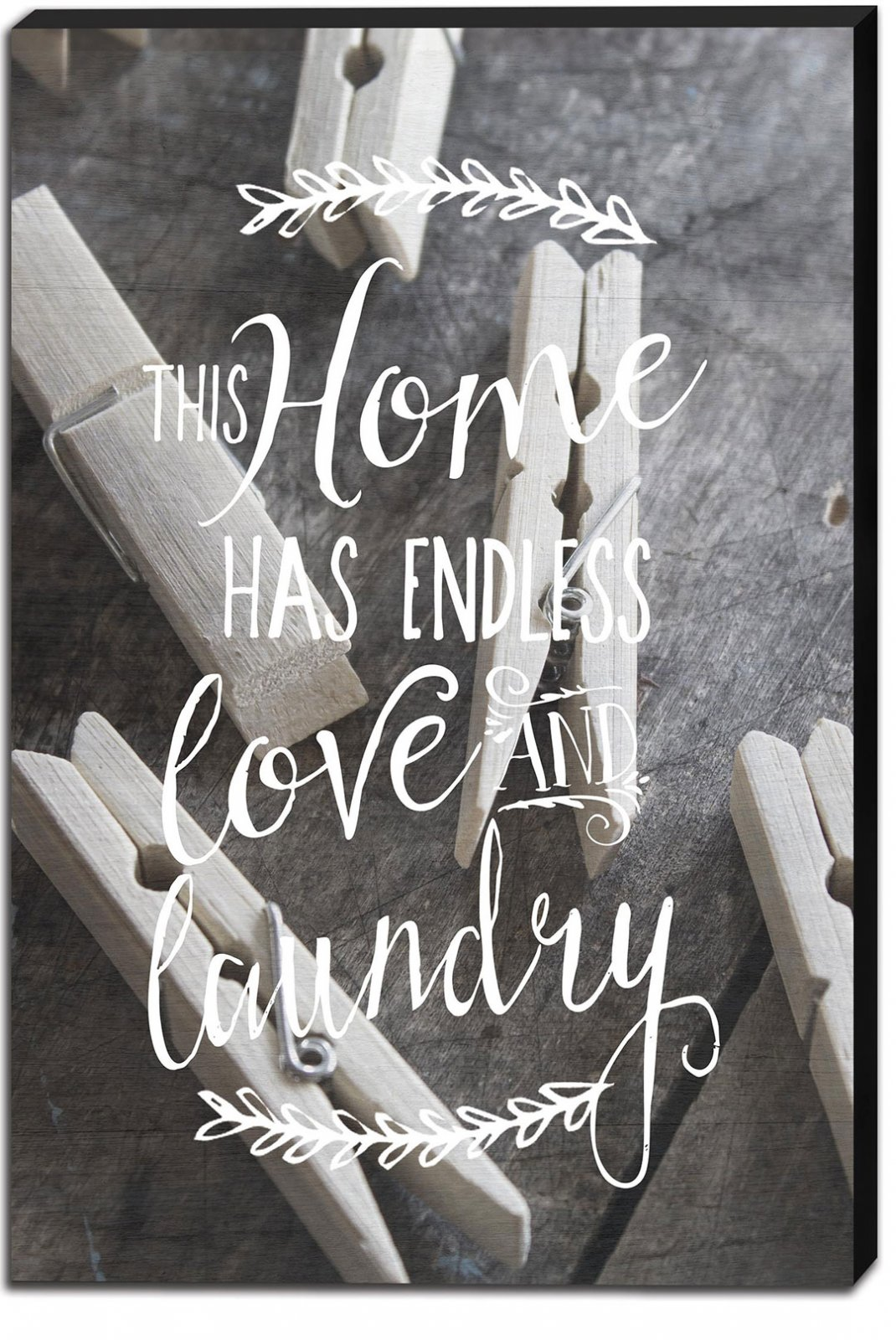 12x18 Endless Love Laundry Canvas