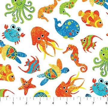 Undersea 3D sea creatures