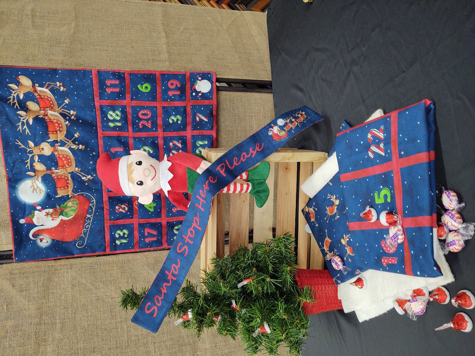 SANTA STOP HERE ADVENT PANEL Kit
