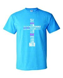Large T-Shirt: Blue