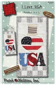 I Love USA Pattern