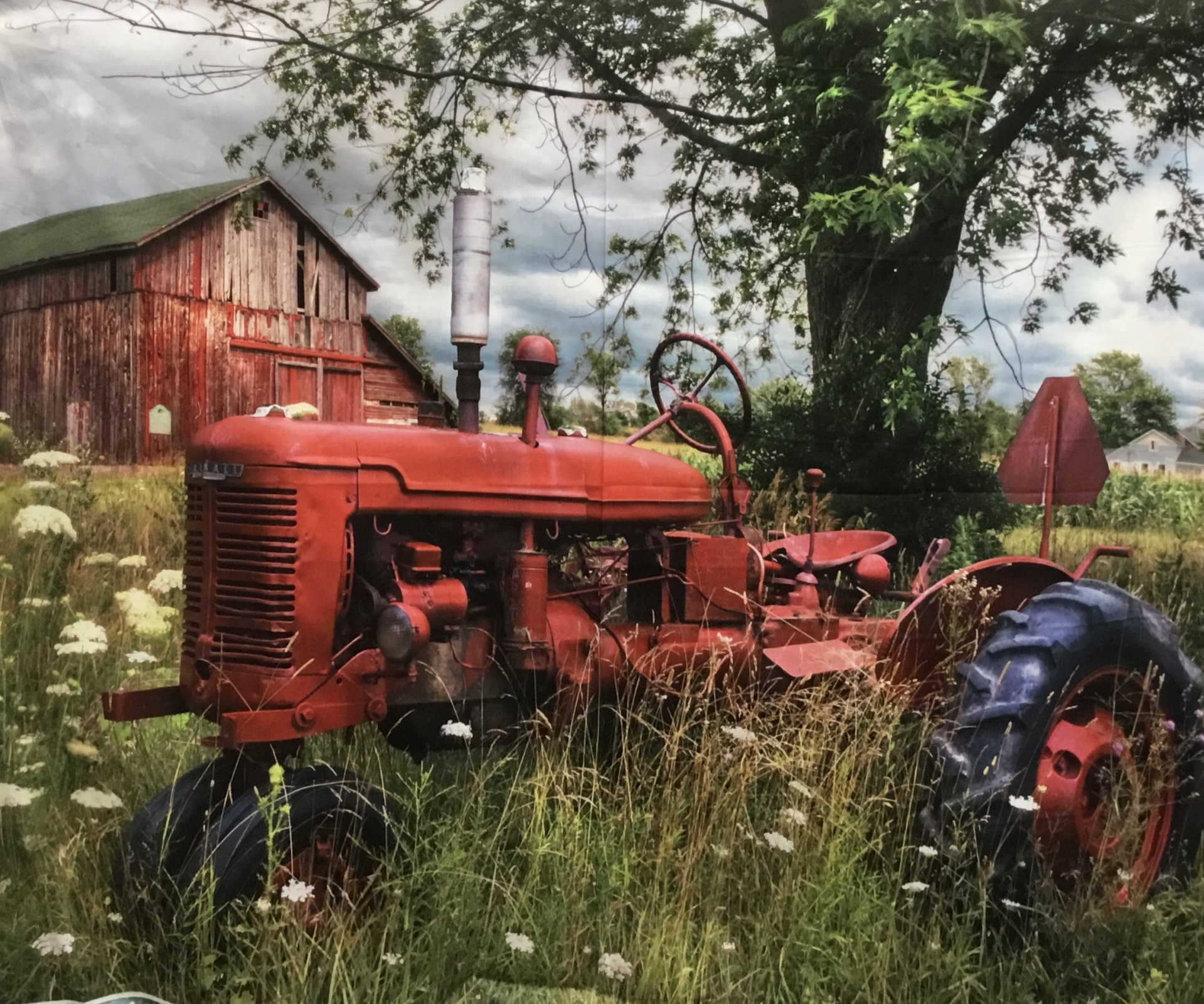 Tractor and the Barn Panel