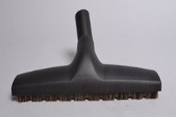 BARE FLOOR BRUSH,WESSEL WERK,1 1/4,BLACK,12.5'' W/WHEELS HORSE HAIR BRISTLE