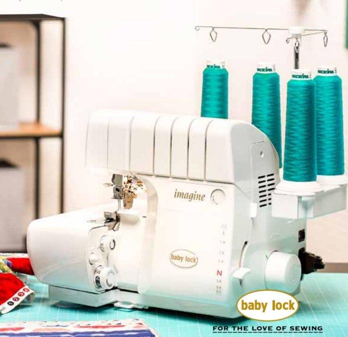BabyLock Imagine Serger 404040 Thread Diff Feed JetAir Threading Custom Imagine Sewing Machine