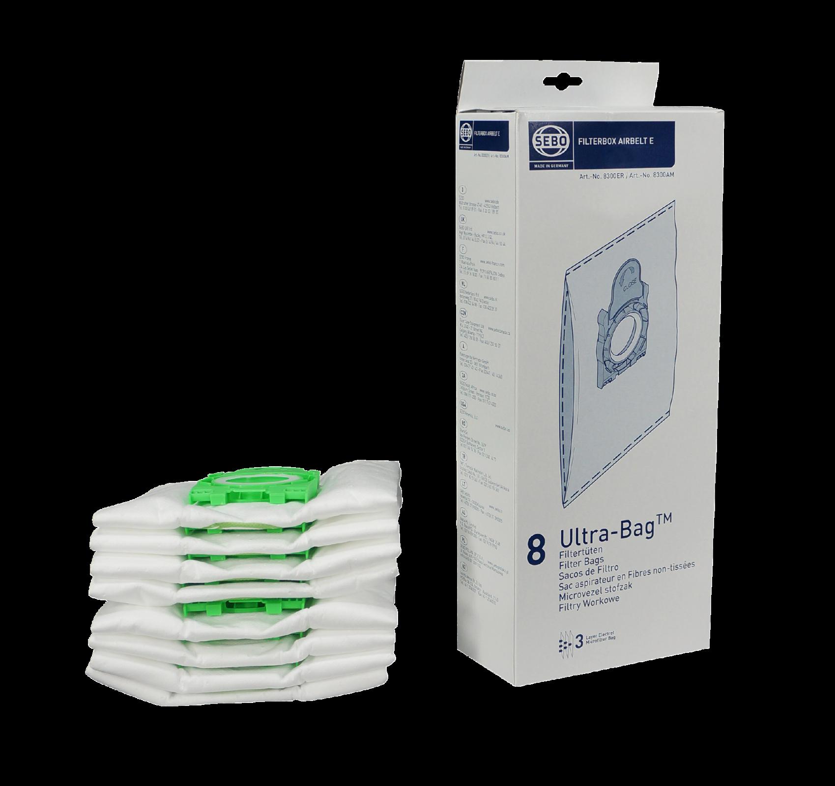SEBO Filter Bag Box (Airbelt E) - 8 pack
