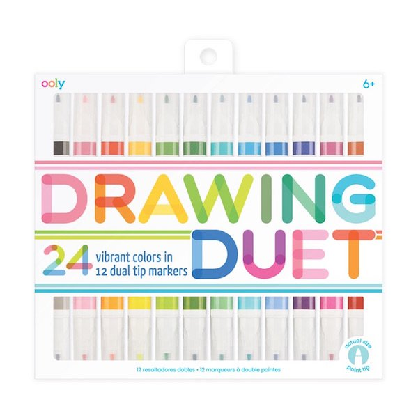 Drawing Duet Double-Ended Markers by Ooly