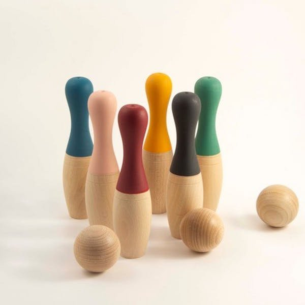 Wood Pin Bowling by Me & Mine