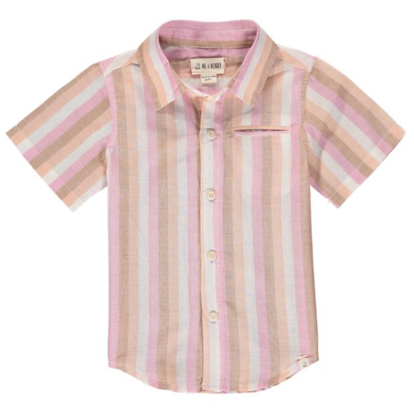 Pier Shirt in Coral Stripe by Me + Henry