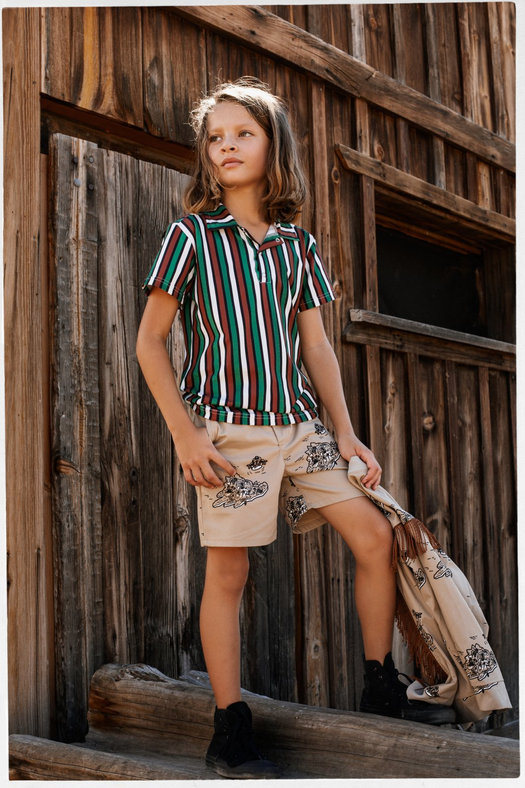 Adventure Trail Polo Shirt by Jelly Alligator