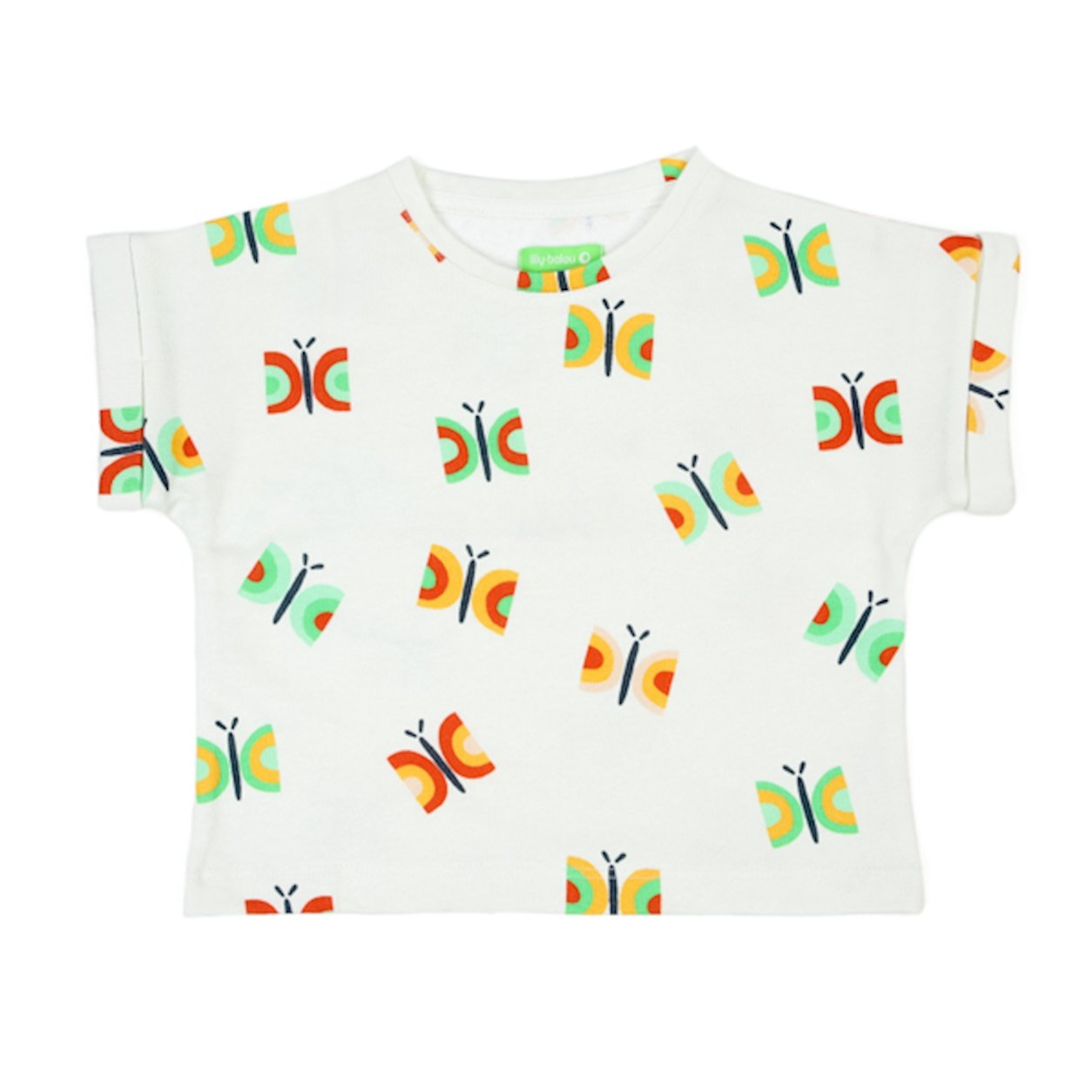 Butterflies Boxy Tee by Lily Balou