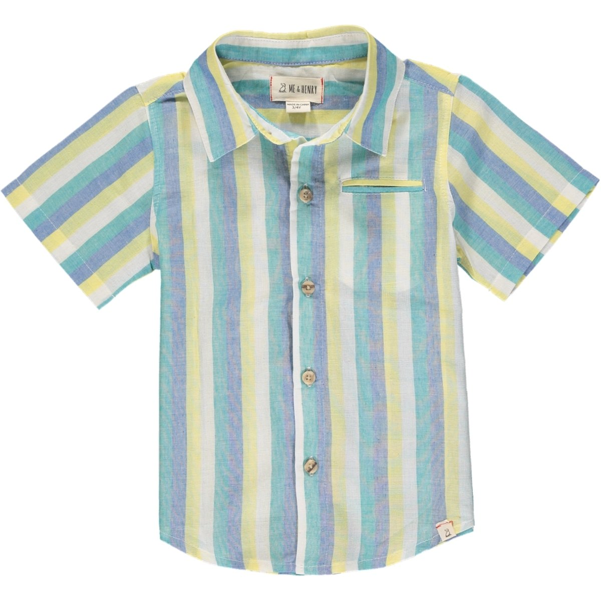 Pier Shirt in Green Stripe by Me + Henry