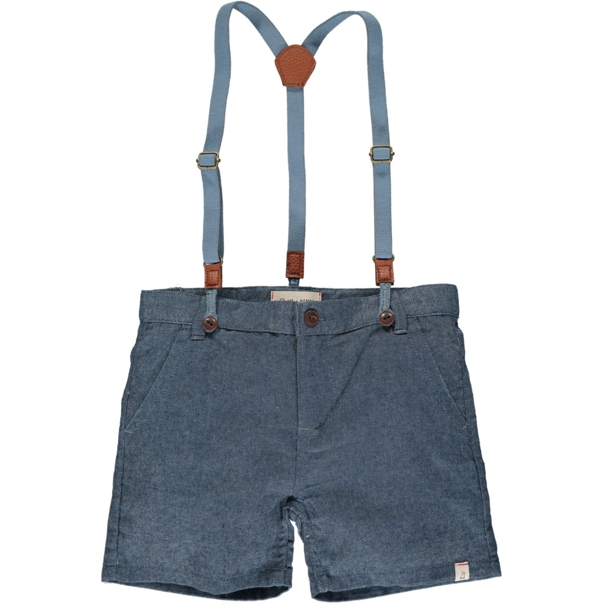 Captain Shorts with Suspenders in Chambray by Me + Henry